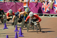 YAMAMOTO leads the Mens Paralympic Marathon Royalty Free Stock Photos