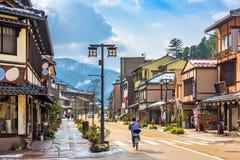 Yamanaka Onsen, Japan. Hot springs resort town street scene Stock Images