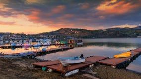 Free Yamanakako Lake Landscape At Dusk Royalty Free Stock Images - 113657259
