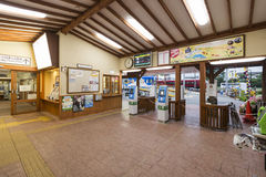Yamanashi, Japan - 30. September 2016: Innenraum von Kawaguchiko-Station, Yamanashi, Japan Lizenzfreie Stockfotografie