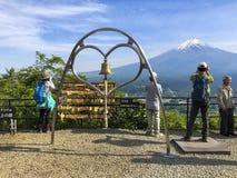 View of Mount Fuji from the Arakurayama Sengen Park royalty free stock images