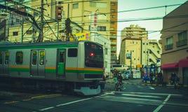 Yamanote linia w Tokio, Japonia Zdjęcia Stock