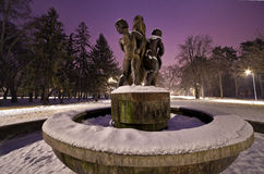 Yambol city park in winter Royalty Free Stock Photos