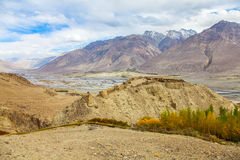 Yamchun fortress, Ishkashim, Badahshan, Pamir Tajikistan. Legendary Yamchun fortress in Ishkashim from tajik side of the border in Pamir, Tajikistan Stock Photos