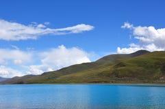 湖yamdrok 库存照片