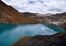 Yamdrok湖 图库摄影