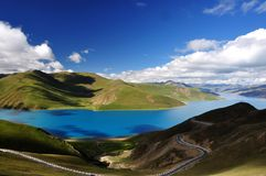 Yamdrok lake Stock Photos