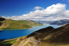 Yamdrok lake. In Tibet, China Royalty Free Stock Photography