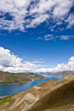 Yamdrok lake. The Yamdrok lake,one of the 3 sacred lakes of Tibet Stock Photo
