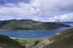 Yamdrok Lake in summer Stock Photo