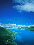 Yamdrok  lake in tibet Royalty Free Stock Image