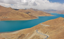 Yamdrok lake in Tibet Stock Image