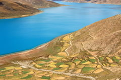 Yamdrok Lake in Tibet Royalty Free Stock Photography