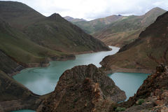 Yamdrok lake, Tibet, China Royalty Free Stock Images