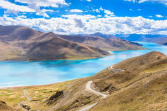 The yamdrok lake. In Tibet, China Royalty Free Stock Images