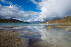 Yamdrok lake in Tibet, China Stock Photography
