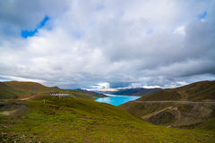 Yamdrok lake in Tibet, China Royalty Free Stock Photo