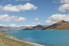 Yamdrok Lake, Tibet. Yamdrok Lake is a freshwater lake in Tibet. It is one of the three largest sacred lakes in Tibet Stock Images