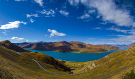 Yamdrok Lake: Travelling in Tibet Royalty Free Stock Photo