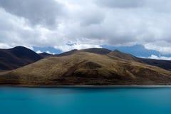 Yamdrok Tso jezioro Zdjęcie Royalty Free