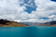 Yamdrok Tso jezioro Zdjęcie Stock