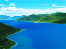 Yamdrok Tso Lake Royalty Free Stock Photography