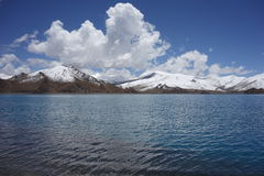 YamdrokTso lake in Tibet Stock Image