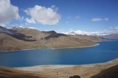 YamdrokTsomeer in Tibet Stock Afbeelding