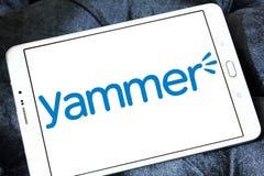 Yammer o logotipo da empresa imagem de stock