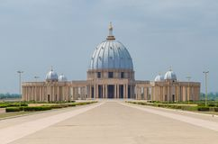 Free Yamoussoukro, Ivory Coast - February 01 2014: Famous Landmark Basilica Of Our Lady Of Peace, African Christian Cathedral Stock Image - 104181901