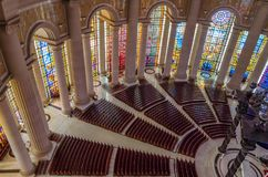 Yamoussoukro, Ivory Coast - February 01 2014: Famous landmark Basilica of our Lady of Peace, African Christian cathedral Stock Image