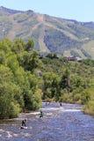 Yampa Rzeczny Fest, Steamboat wiosny, Kolorado Obraz Stock