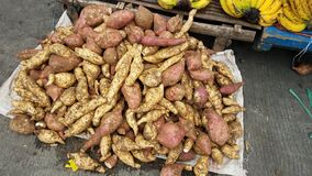 Yams for sale at the public market in Ormoc City, Leyte, Philippines