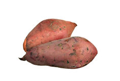 Yams isolados no branco Fotos de Stock Royalty Free