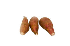 Yams. Isolated on the white background Stock Images