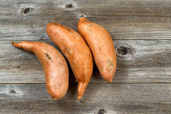 Yams ready to cook Royalty Free Stock Image