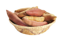 Yams and sweet potatoes Royalty Free Stock Photo