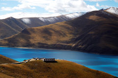 yamtso του Θιβέτ λιμνών yamdrok Στοκ εικόνες με δικαίωμα ελεύθερης χρήσης
