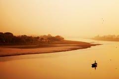 Река Yamuna в Индии, Агре Стоковое Изображение