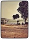 Yamuna flod Arkivbild