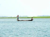 Yamuna flod, Brahmaputra River, Bogra, Bangladesh Arkivfoto