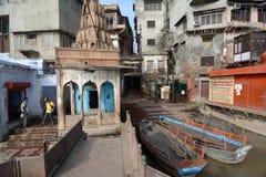 Yamuna flod: Ghats av Mathura Royaltyfria Foton