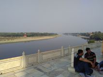 Yamuna river royalty free stock photo