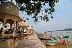 Yamuna River: Ghats of Mathura Stock Images