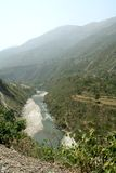 Yamuna River Valley immagine stock