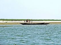 Yamunarivier, Brahmaputra-Rivier, Bogra, Bangladesh Stock Afbeeldingen