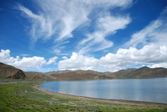 Yamzho Lake Royalty Free Stock Images
