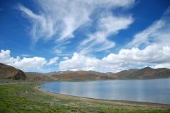 Yamzho Lake. This is a corner of the Tibet Yamzho Lake Royalty Free Stock Images