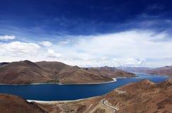 Yamzho sjö, Yamdrok sjö Fotografering för Bildbyråer