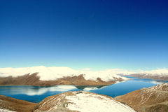 Yamzho yomco. A famous highland lake in Tibet, Yamdrok Lake Stock Photos